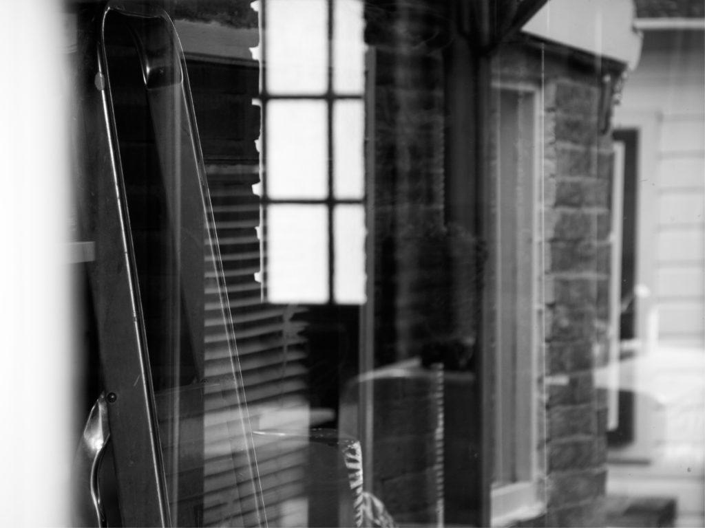 foto van reflectie in eigen huis